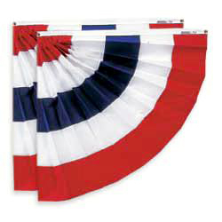 Red White and Blue Stripes Half Fan