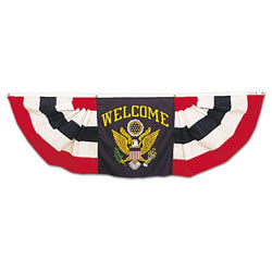 Welcome Center Half Fan Bunting Set, DFANS3937