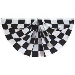 Black & White Checkered Full Fan, DFFAN36CHEC
