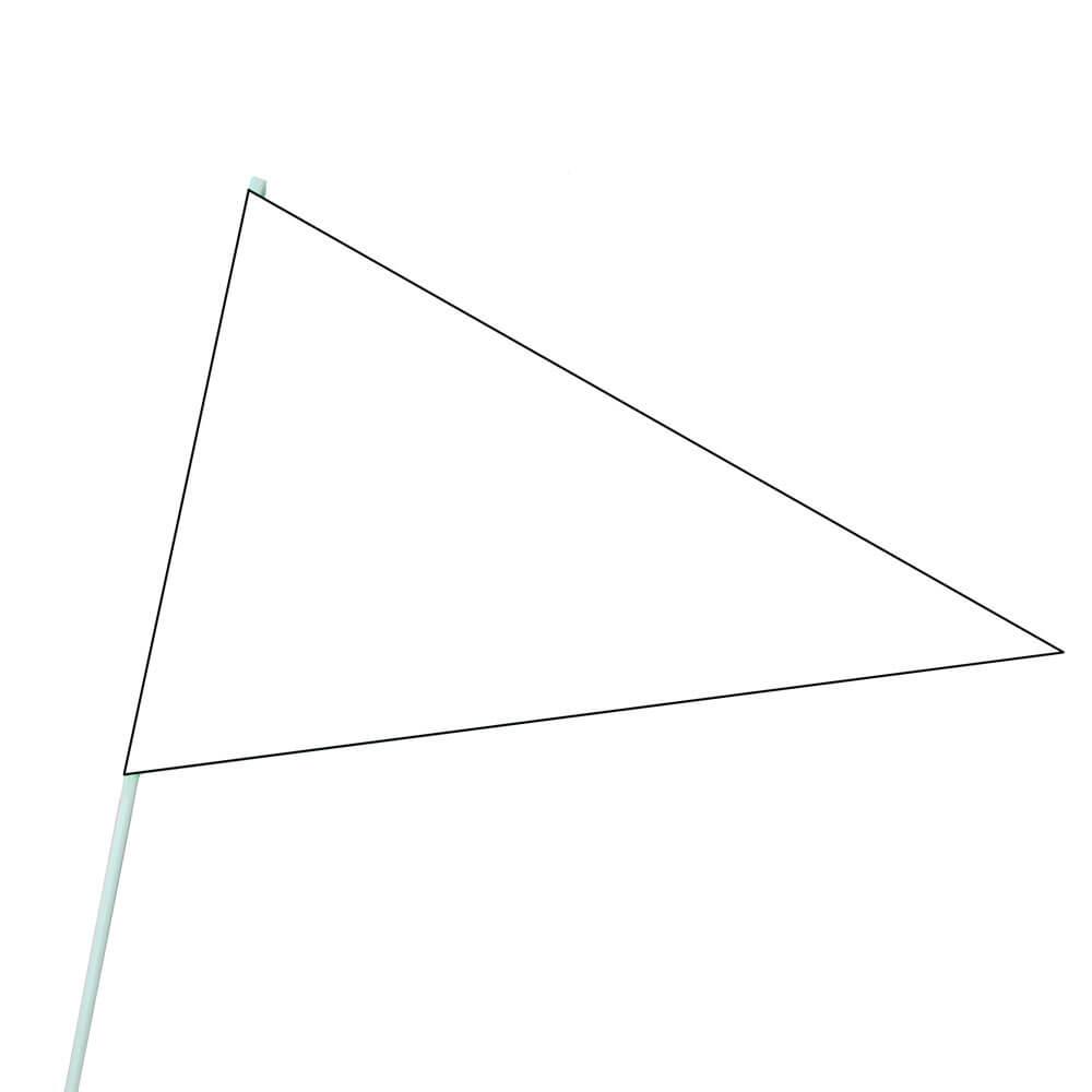 White Crop Marker Flag