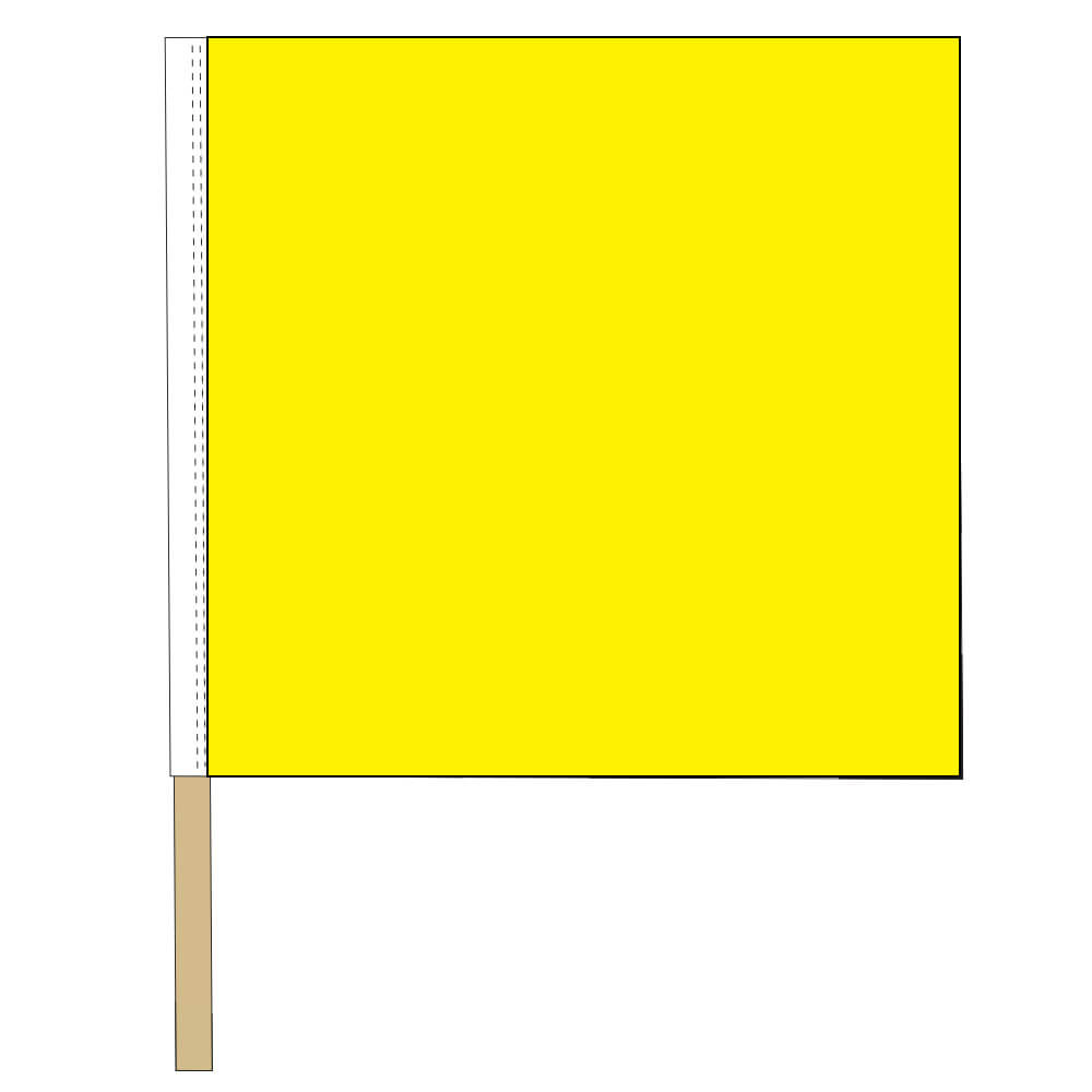 Caution Race Track Flag, DFLAG2430NRT7G