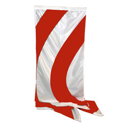 Red White Wave Style Wind Dancer Flag, DFLAG215WINDRW