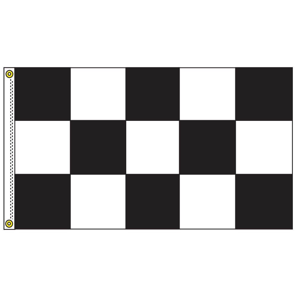 Race Track Checkered Rectangle Flag, DFLAG35CHEC