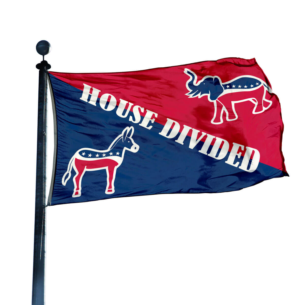 Democrat Republican House Divided Flag 3 Ft X 5 Ft Flagandbanner Com