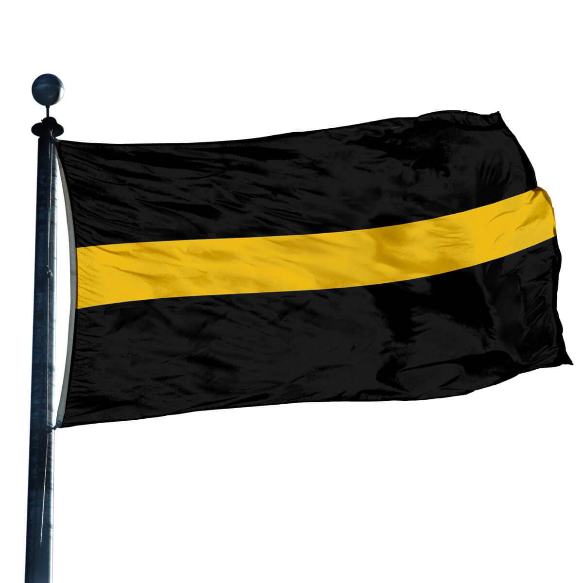 Thin Gold Line Flag Flagandbanner