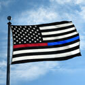 Thin Red and Blue Line US Flag, DFLAG35USTRBL