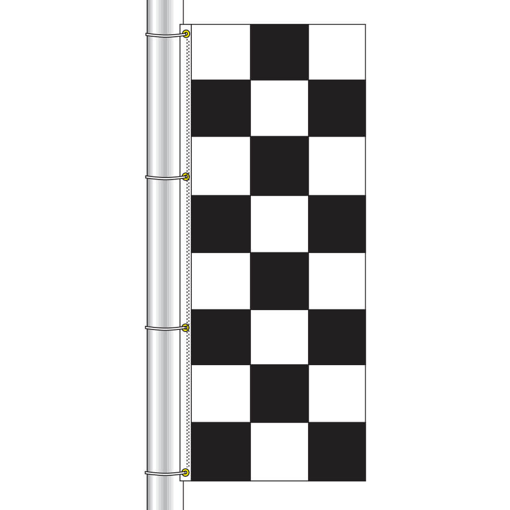 Vertical Race Track Checkered Flag, DFLAG38CHEC