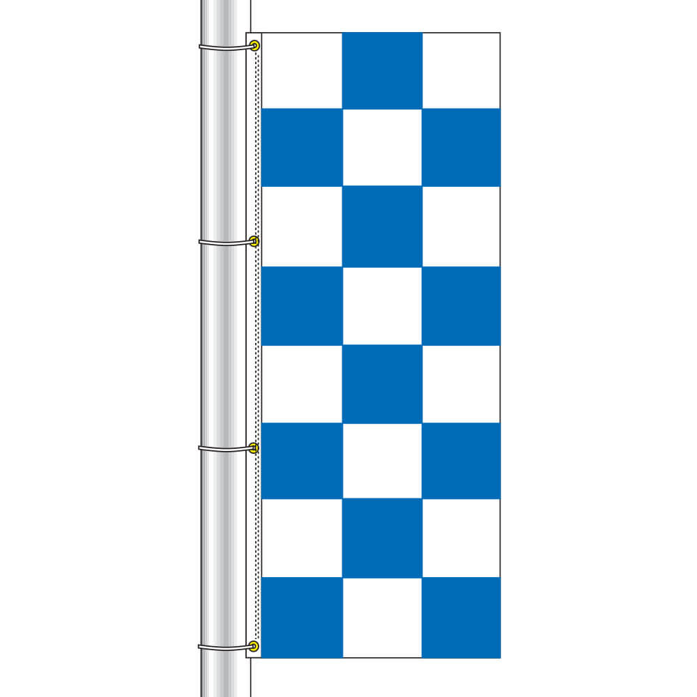 Vertical Race Track Checkered Flag, DFLAG38CHECB