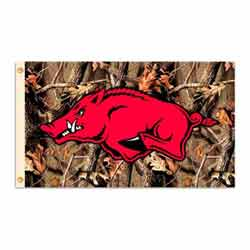 Realtree Camo Razorbacks Flag, DFLAG95642