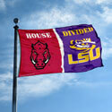 Arkansas Razorbacks VS LSU House Divided Flag, DFLAGARKLSU