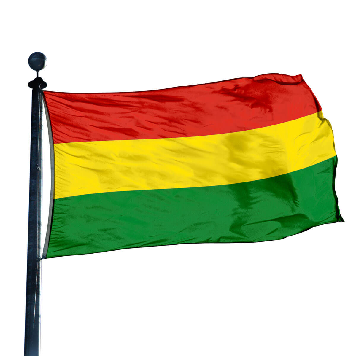 Triple Stripe Flag: Red/ Yellow/ Green
