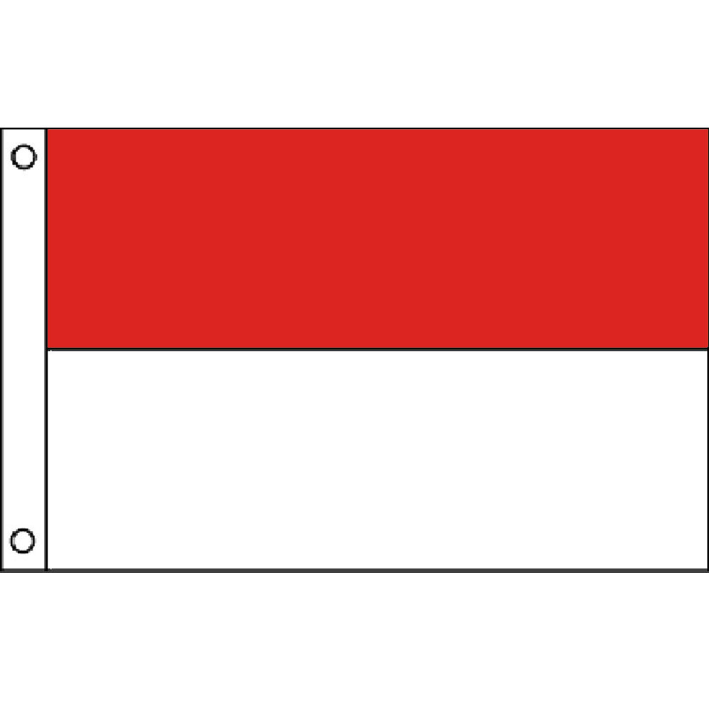 Red White Double Stripe Color Flag 2ft X 3 Ft