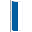 Nylon Blue-White Double Stripe Drape Flag