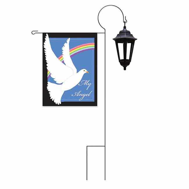 Solar Garden Flag Lantern Stand