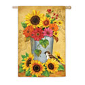 Bucket Bouquet House Banner, EE13A3104