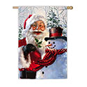 Santa and Frosty House Banner, EE13A3519