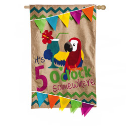 5 OClock Somewhere House Banner, EE13B3388BL
