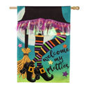 My Pretties Burlap House Flag, EE13B9379BLH