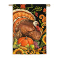 Folk Turkey House Banner, EE13S2570BL