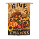 Give Thanks Cornucopia House Banner, EE13S3002