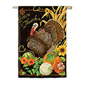 Harvest Thanks Greetings House Banner, EE13S3107