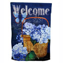Hydrangea Welcome House Banner, EE13S3283