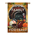 Food Family Football House Banner, EE13S3511
