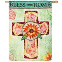 Bless This Home Suede House Banner, EE13S3656