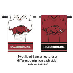 Razorbacks Home and Away Jersey Suede House Banner, EE13S911BLJH
