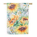 Sunflower Fields Suede House Flag, EE13S9216H