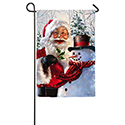Santa and Frosty Garden Banner, EE14A3519G