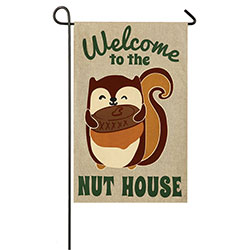 Welcome to the Nut House Garden Banner, EE14B3426BLG