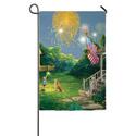 4th Of July Scene Electro Luminescent Garden Banner, EE14EL2427G