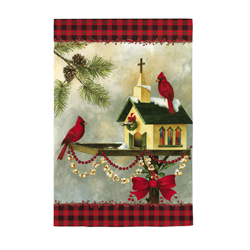 Christmas in the Air Greeting Card and Garden Banner, EE14GC1393