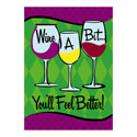 Wine a Bit Greeting Card and Garden Banner, EE14GC2536