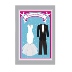 Congratulations! Wedding Greeting Card and Garden Banner, EE14GC2537