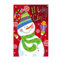 Funky Winter Friends Greeting Card and Garden Banner, EE14GC2544