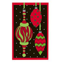 Christmas Ornaments Greeting Card and Garden Banner, EE14GC2546