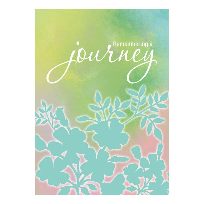 Remembering a journey sympathy greeting card and garden banner m4hsunfo