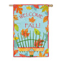 Fall Welcome Rake Garden Banner, EE14S2563G