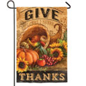Give Thanks Cornucopia Garden Banner, EE14S3002G