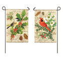 Holiday Birds Garden Banner, EE14S3175FBG