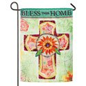 Bless This Home Suede Garden Banner, EE14S3656G