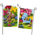 Easter Morning Suede Double Sided Garden Banner, EE14S3706FBG