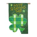 Plaid Clover Banner, EE151882
