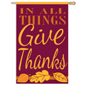 In All Things Give Thanks House Banner, EE158250