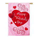 Scroll Valentine Hearts House Banner, EE158379BL