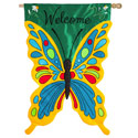 Butterfly Welcome House Banner, EE158394