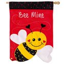 Bee Mine Applique House Banner, EE158487BL