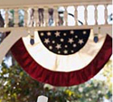 Tea Stained Patriotic Small Bunting, EE15P022